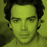 Green-tinted headshot of Will Keenan