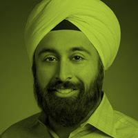 Green-tinted headshot of Baljeet Singh